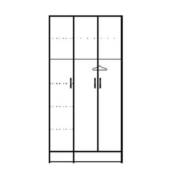 ארון 3 דלתות דגם R0086 ר.א