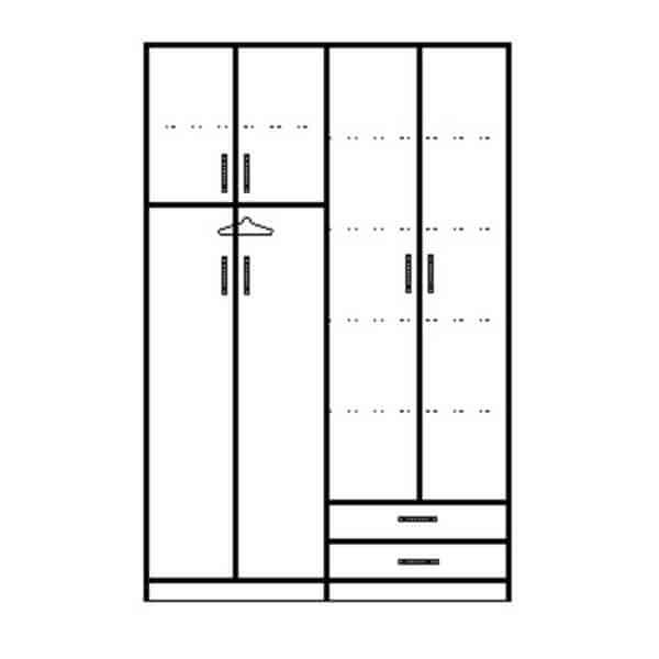 ארון 4 דלתות דגם R0060 ר.א