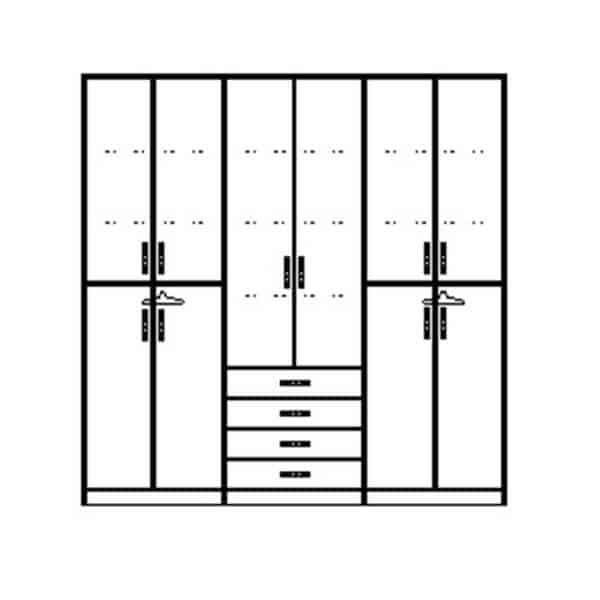 ארון 6 דלתות דגם R0097 ר.א