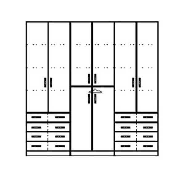 ארון 6 דלתות דגם R0099 ר.א
