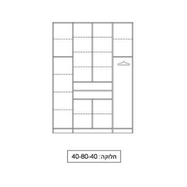 ארון 4 דלתות דגם R0742 ר.א