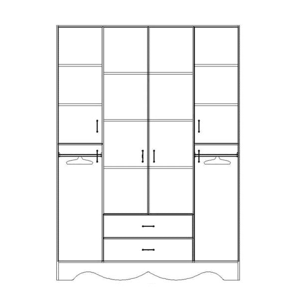 ארון 4 דלתות דגם R0047 ר.א