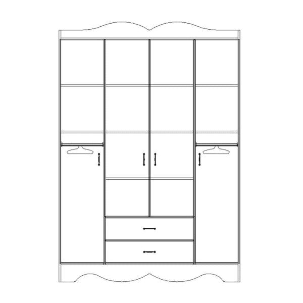 ארון 4 דלתות דגם R0053 ר.א