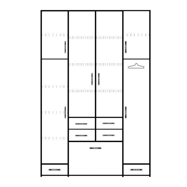 ארון 4 דלתות דגם R0052 ר.א