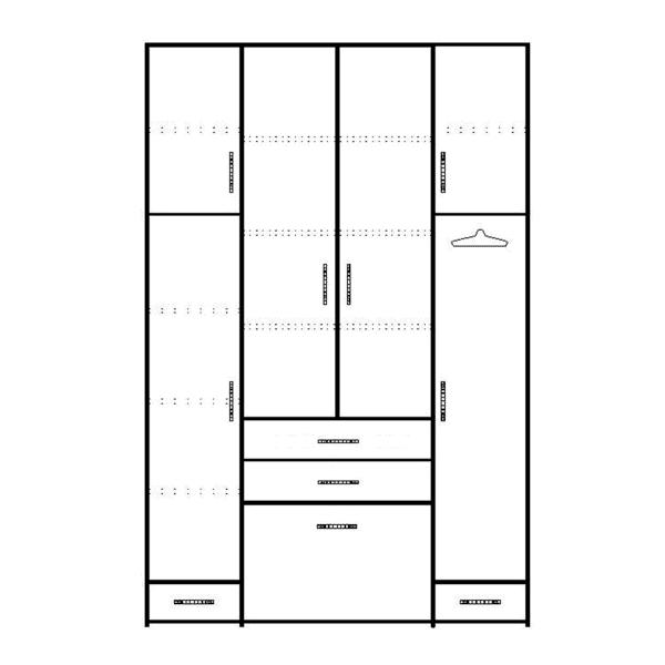 ארון 4 דלתות דגם R0051 ר.א