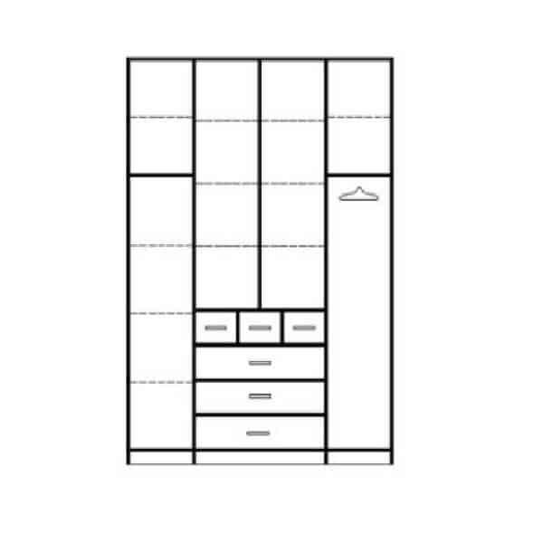 ארון 4 דלתות דגם R0758 ר.א