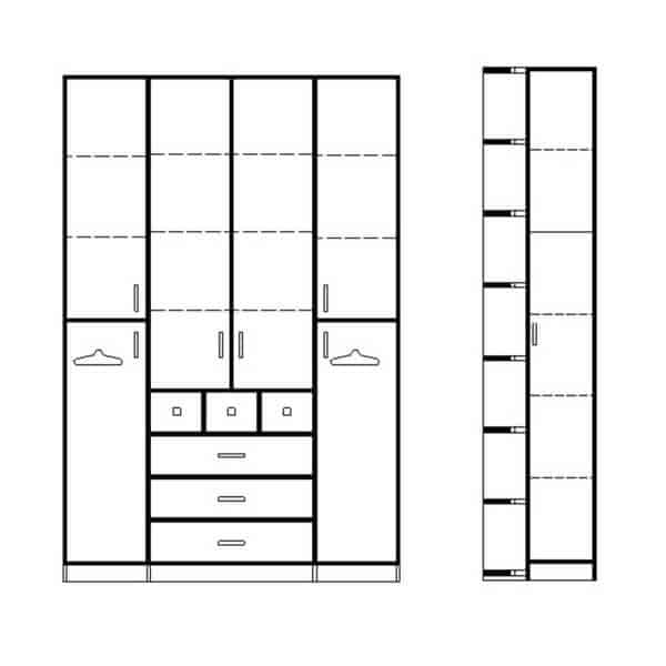 ארון 4 דלתות דגם R0057 ר.א
