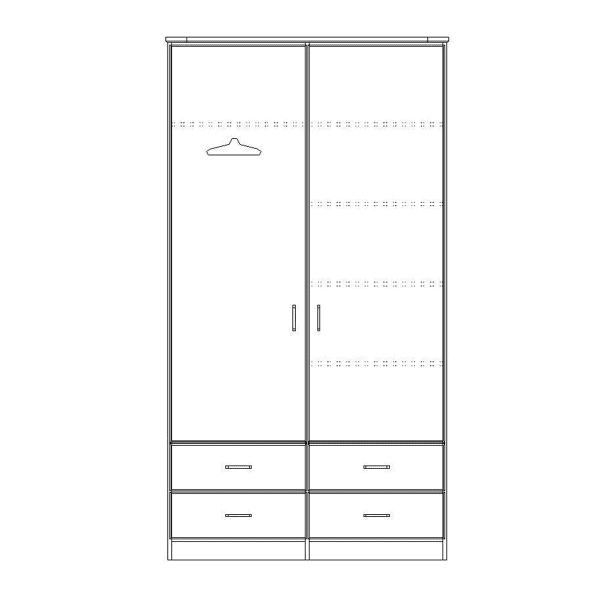ארון 2 דלתות רחב דגם R0043 ר.א
