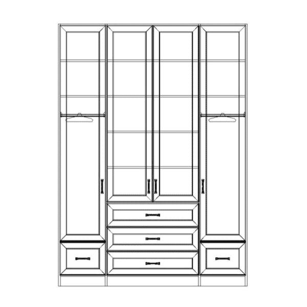 ארון 4 דלתות דגם R0050 ר.א