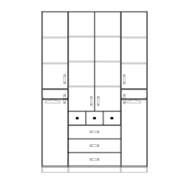 ארון 4 דלתות דגם R0041 ר.א