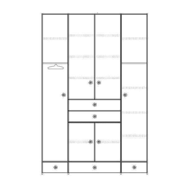 ארון 4 דלתות דגם R0037 ר.א
