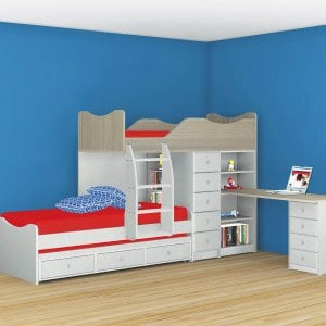 מיטות ילדים ונוער,מיטות קומותיים ומשולשת