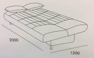 מידות מיטה וחצי